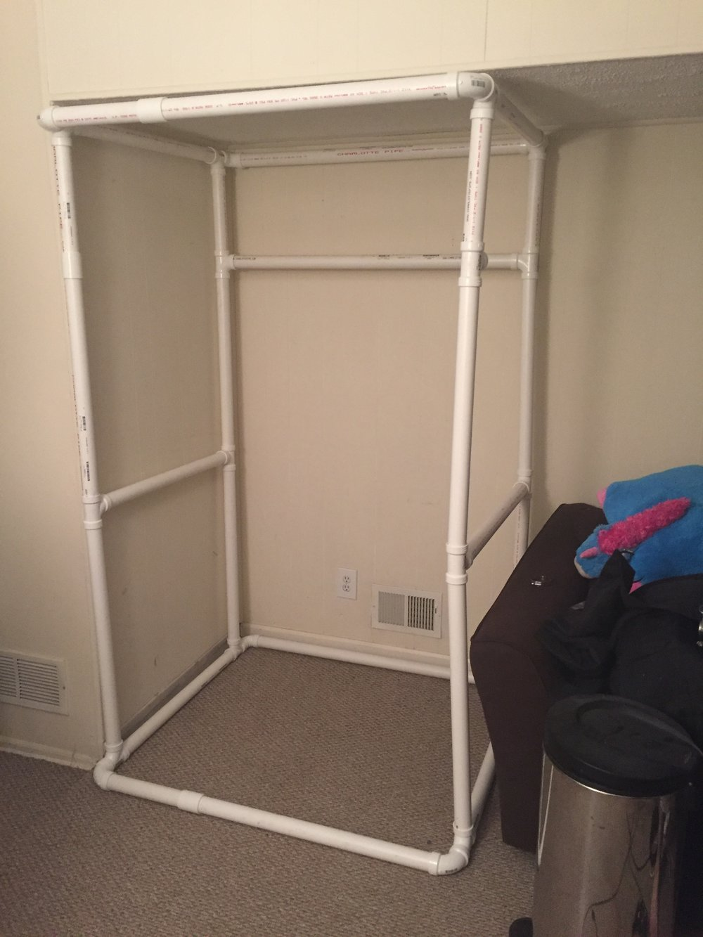 PVC Pipe Sound Booth Frame!