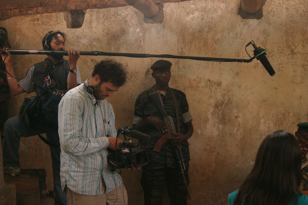 At the jungle hideout of rebel leader Laurent Nkunda, filming REPORTER