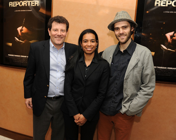 At the HBO premiere of REPORTER with Nick Kristof and Jackie Glover