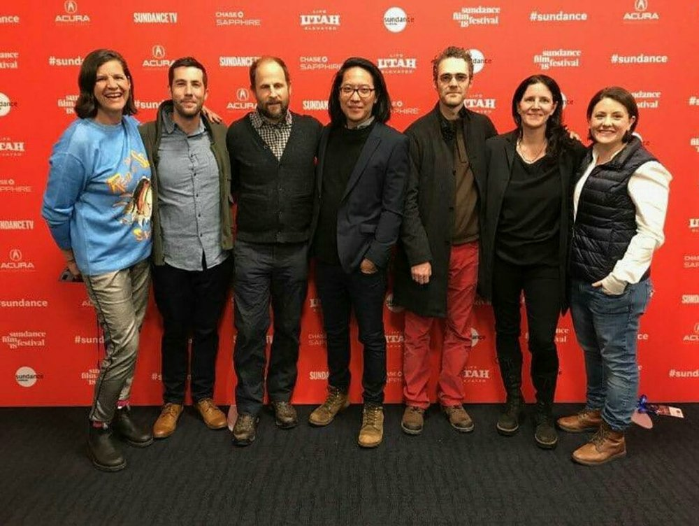 The crew of Crime + Punishment at Sundance 2018