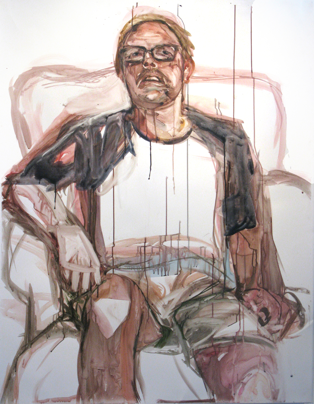 "Carl watercolor on paper 60"" x 48"" 2014"