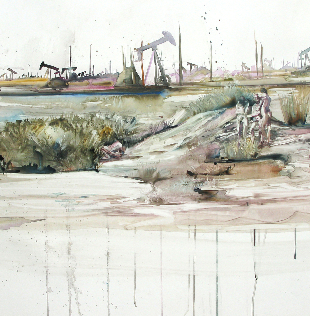 California Dreaming  (detail), 2015, watercolor and gouache on paper