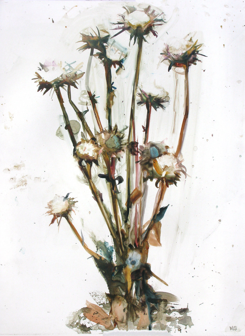Flowers For Difficult Women, 2016, watercolor and gouache on paper, 26 x 20 in.