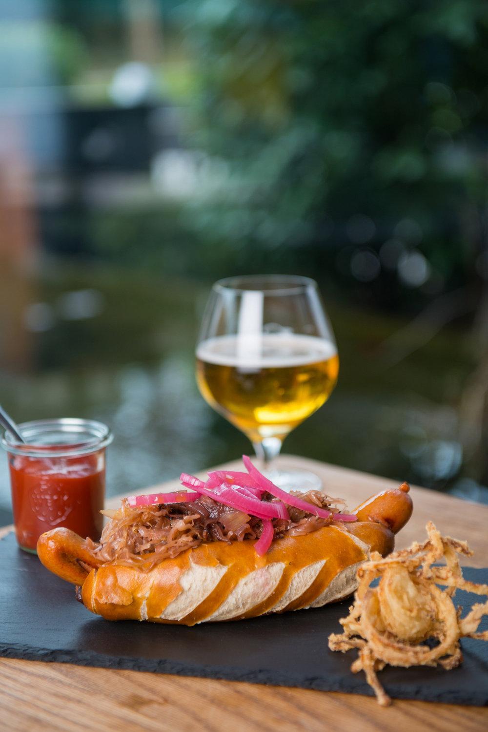 Food styling and food photography hotdog