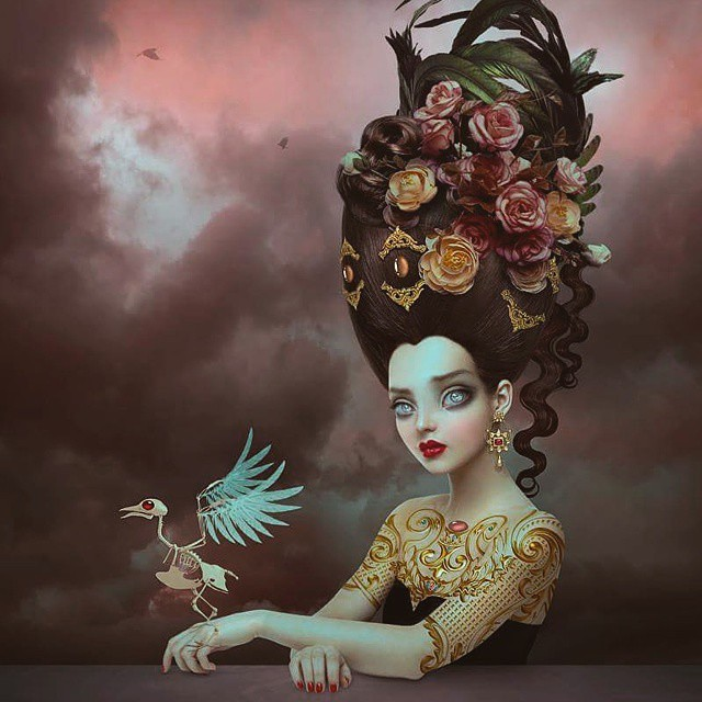Beautifully done #surreal artwork by @natalieshau! #surrealism #artcollective2015
