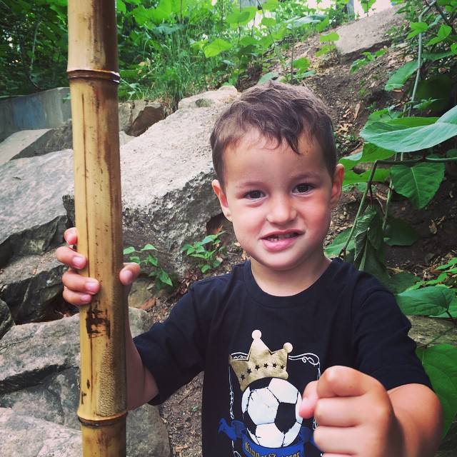 Be Like Bamboo or Get a Knuckle Punch from this random but adorable kid at the park.