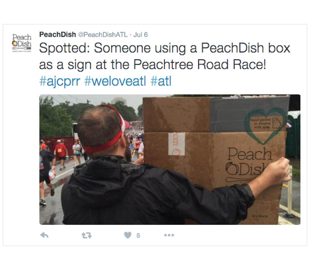 PeachDish Twitter