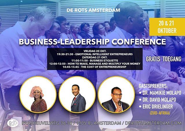 Aankomende vrijdag en zaterdag zal er een geweldige business conferentie zijn, mis dit niet!