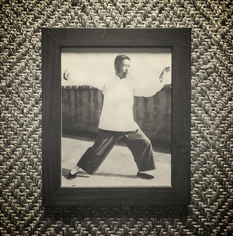 This photograph of Professor Cheng Man Ching hangs in the Oshkosh T'ai Chi Center's studio.