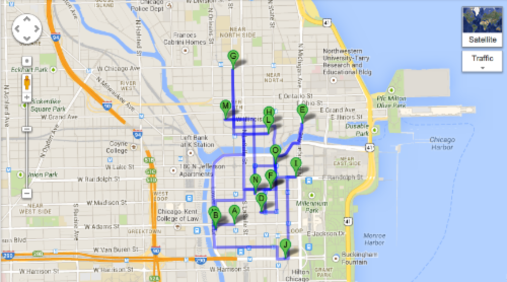 Chicago Loop Map - Social Media Week - Chicago - Socialty