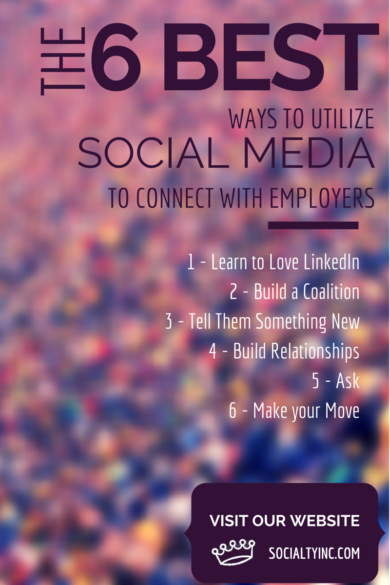 6 BEST WAYS TO UTILIZE SOCIAL MEDIA TO CONNECT WITH EMPLOYERS SOCIALTY