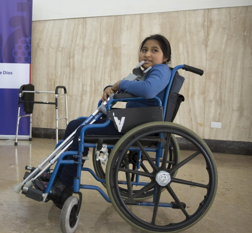 Yuleisi, age 11, is from the Amazon part of the Andes and also suffers from Cerebral Palsy. Currently confined to a wheelchair, she is slowly learning how to get around on crutches, something she was unable to afford previously. She had a smile to light up a room and I was grateful to witness the impact that mobility will soon have on her day-to-day life.