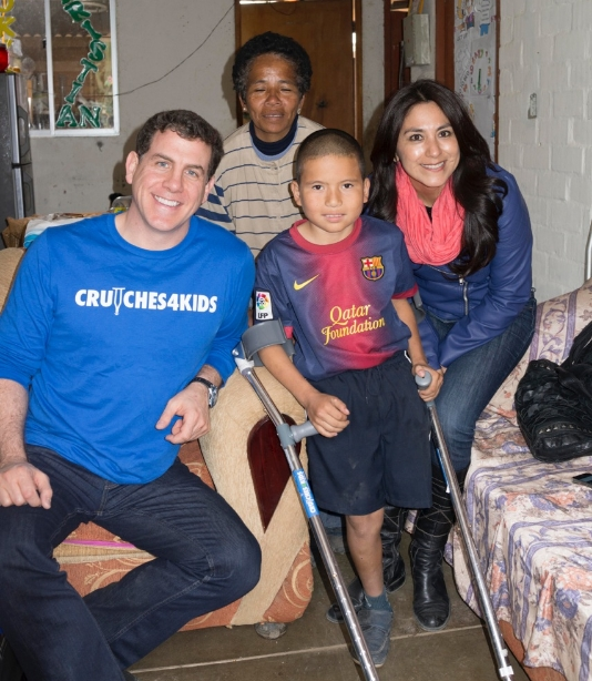 Last, but certainly not least, is the story of young Jorge, a sweet 11-year-old soccer enthusiast (who even got to meet famous Argentinian player Lionel Messi). Though he is missing a lower left limb and was in need of a pair of crutches, one would never know he has suffered because of a missing prosthetic. Like so many others we met while on our trip, his smile tells it all.