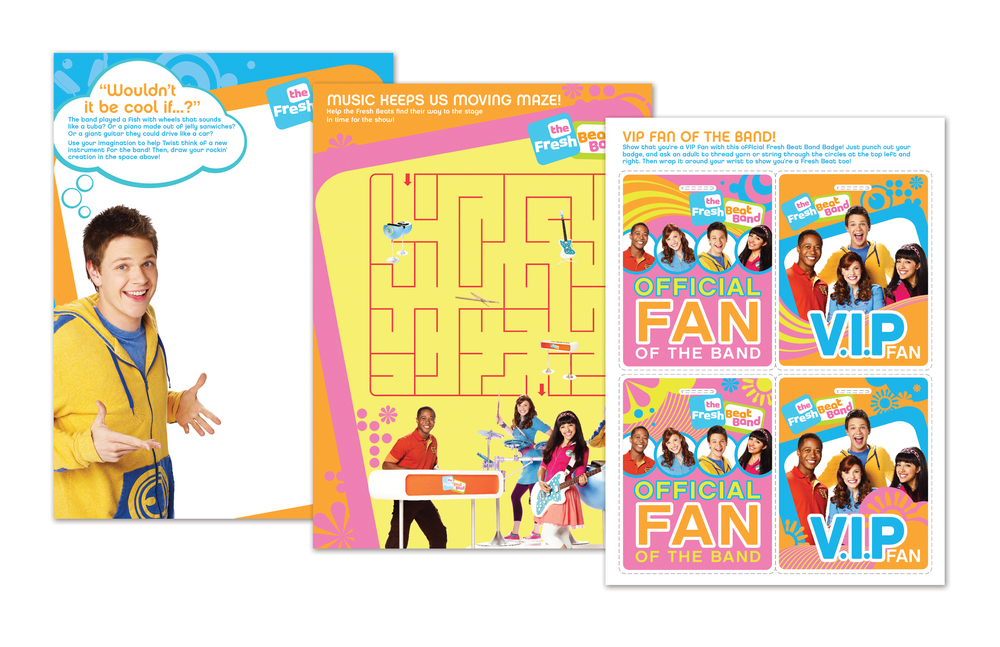 Fresh Beat Band Activities Packet