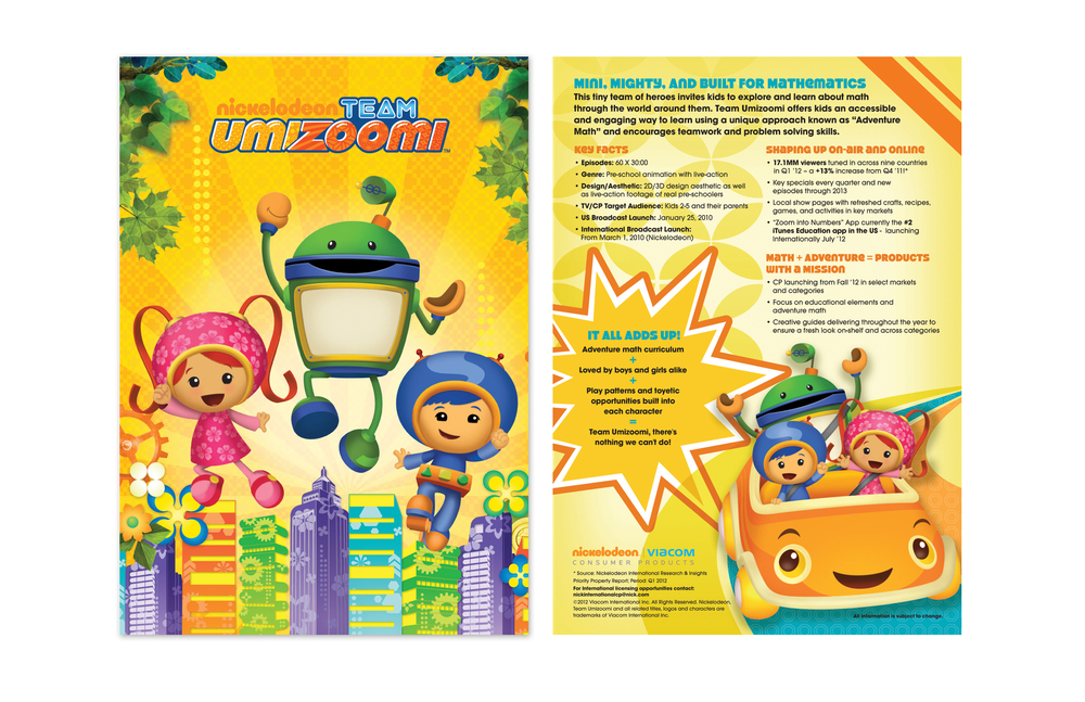 Teem Umizoomi Sell Sheet