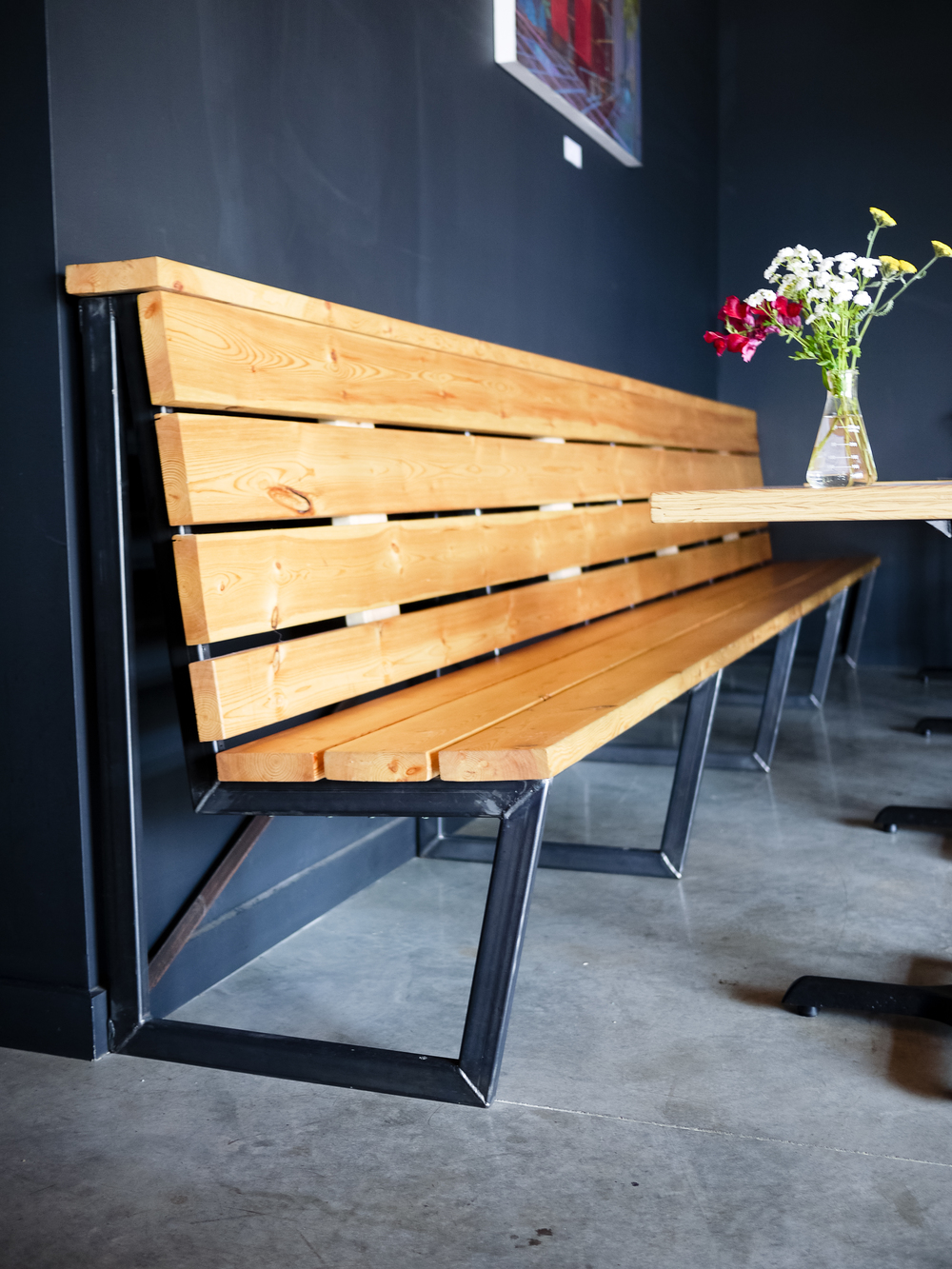 Bench frames at Cardinal, by Clutch