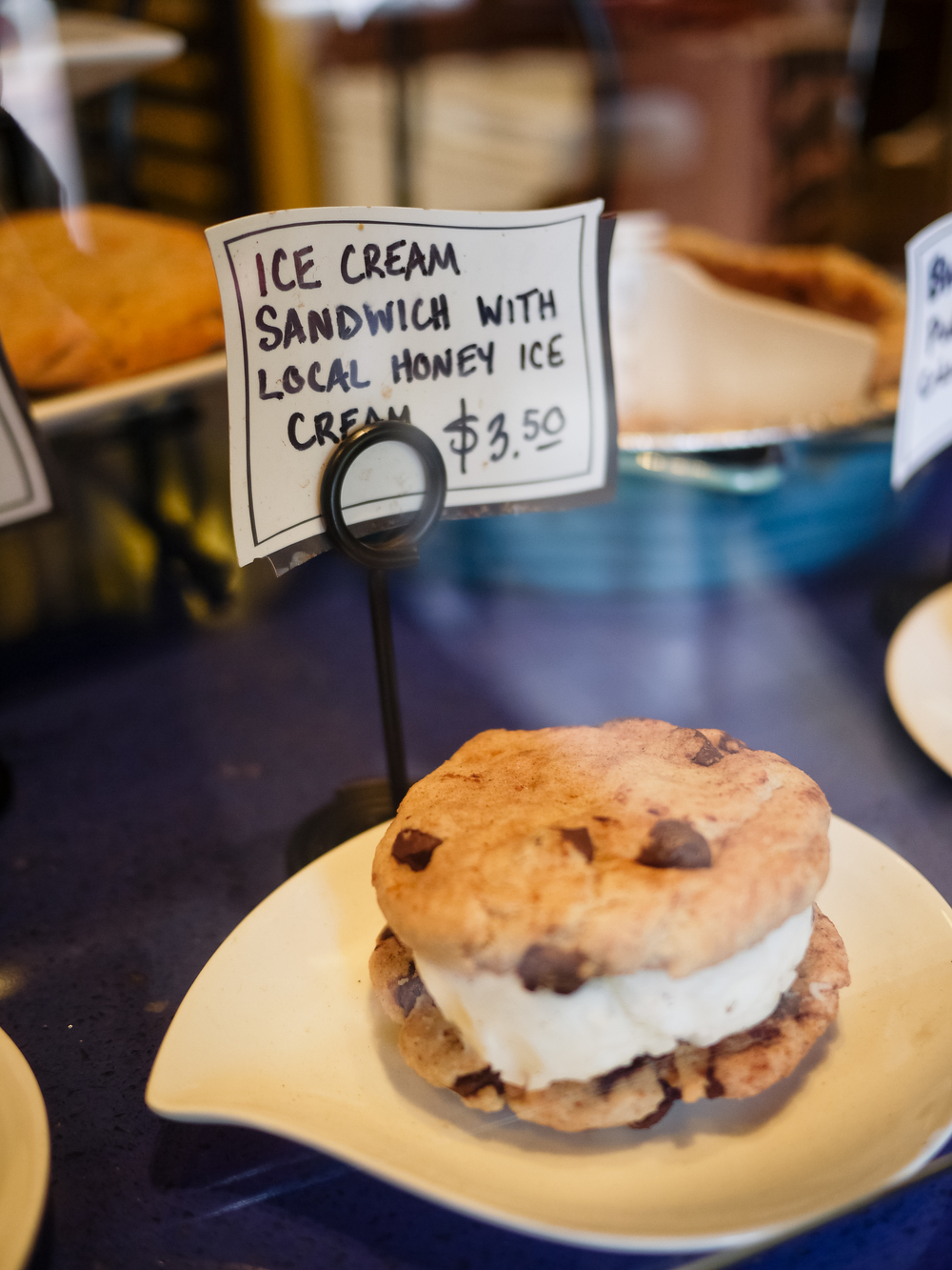 Honey ice cream sandwich.