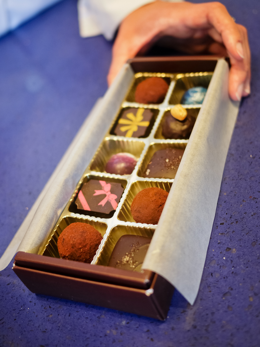 A build-your-own box of chocolates.