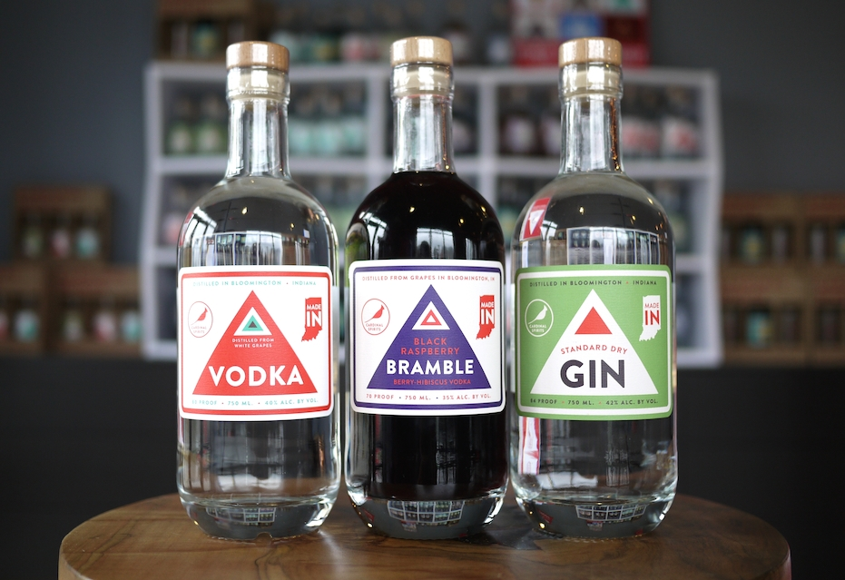 Look for our Vodka, Bramble, Standard Dry Gin...