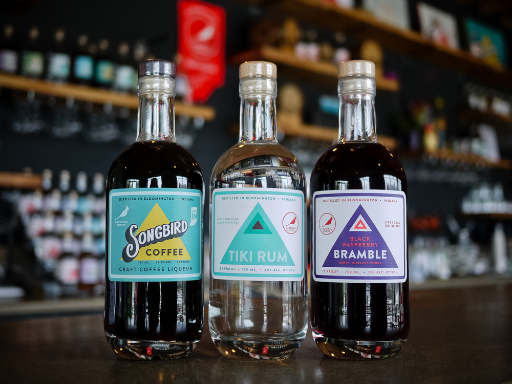 We are bringing down three of our best: Songbird Craft Coffee Liqueur, Tiki Rum, and Black Raspberry Bramble