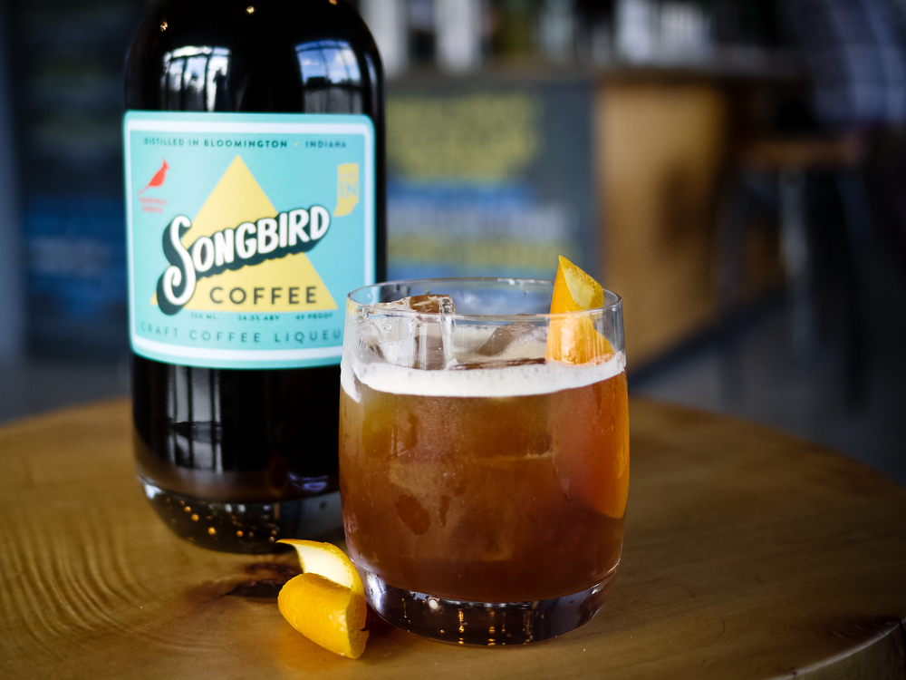 The Cafe A L'Orange, made with Songbird Craft Coffee Liqueur
