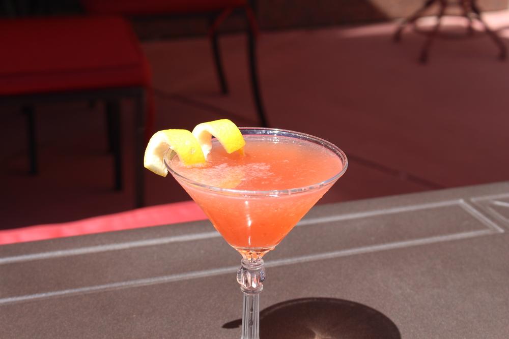 Champagne Cosmopolitan at Agave Vintage Cocktails  - Cardinal Spirits Vodka / Champagne / Cranberry, Lemon & Lime Juice / Housemade Grenadine