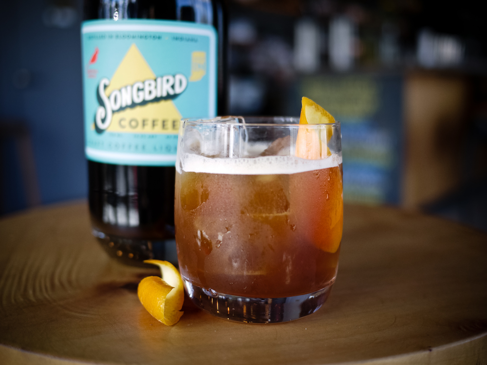 CAFE A L'ORANGE: Cardinal Spirits Craft Coffee Liqueur, Cardinal Spirits Vodka and orange