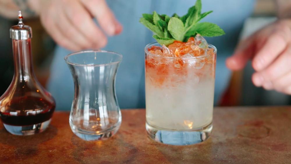 BIN 'N GITTERS: Cardinal Spirits Standard Dry Gin, lime, bitters, mint