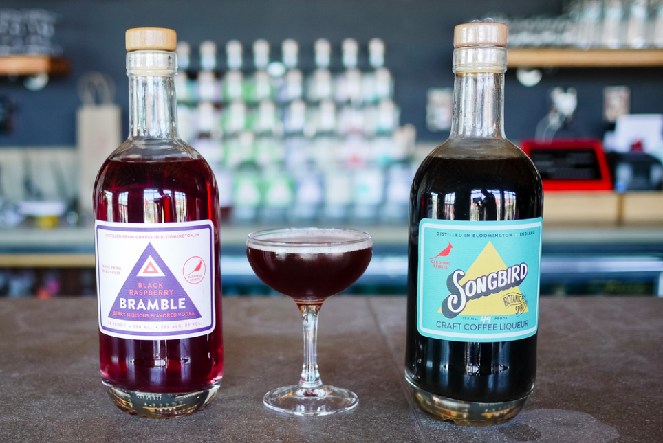 BERRY BRAMBLER: Cardinal Spirits Craft Coffee Liqueur, Cardinal Spirits Bramble black raspberry vodka