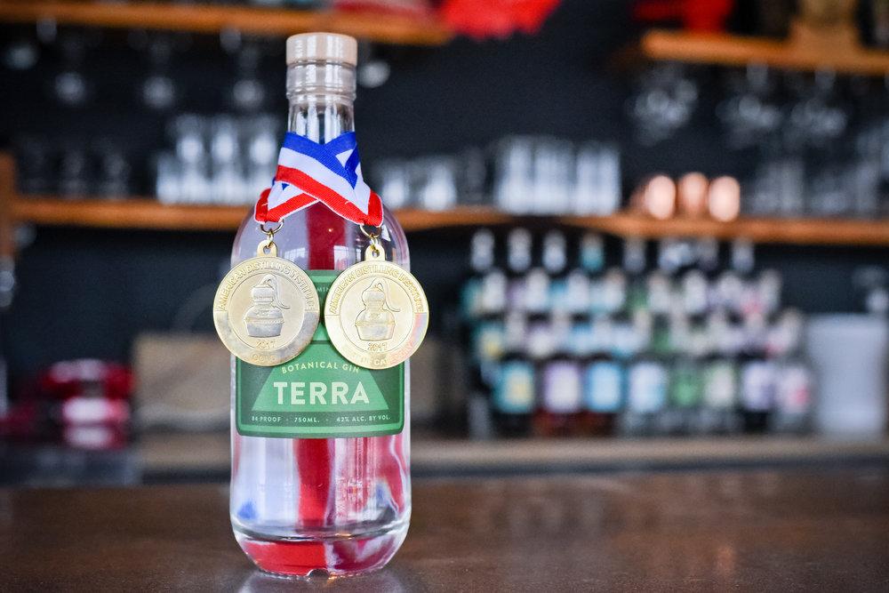 Terra w/gold medals