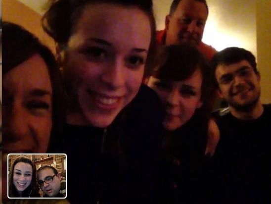 Video chatting with my family