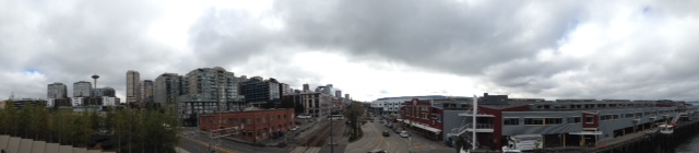 I don't think that this picture does Seattle justice, but just look at this panoramic view.