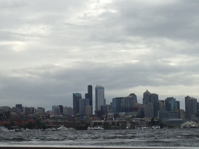 View of Seattle from the duck tour.