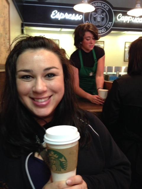 My coffee + My souvenir mug = Happy Jessica, so let's go home now