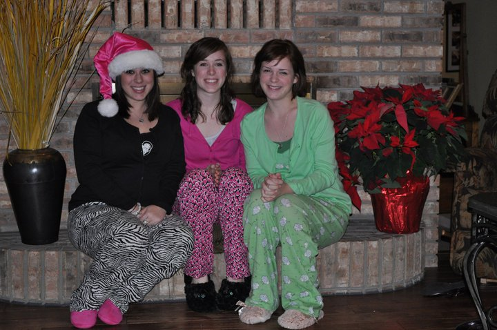 Sisters and I a few years ago in our PJs before bed.