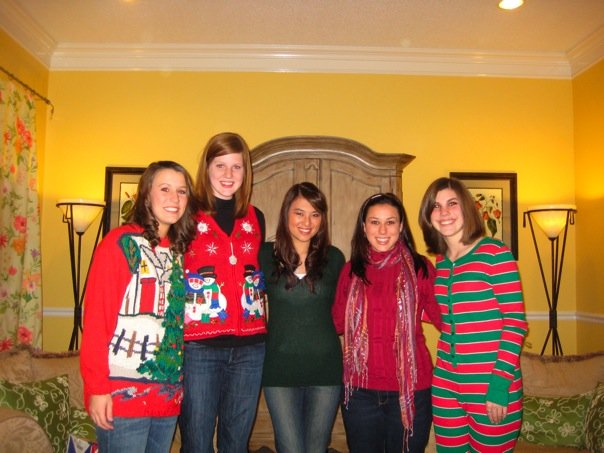 Christmas 2008 with my Phi Mu Family. I'm pretty sure this was supposed to be Tack Christmas, but Grace and I were having no part in that.
