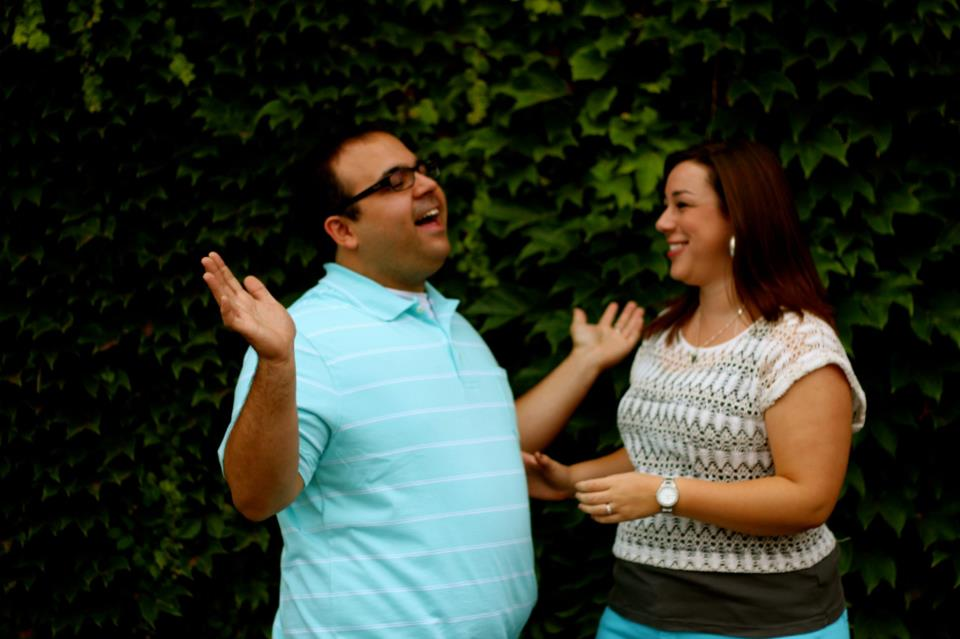 Our engagement photos the summer before we were married.