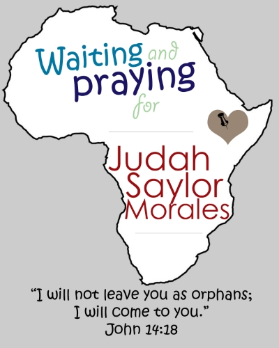 We will be welcoming Judah into The Morales Family in about 3 years...but he's in our hearts and on our mind already!