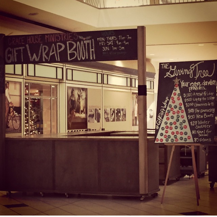 The Gift Wrap Booth!