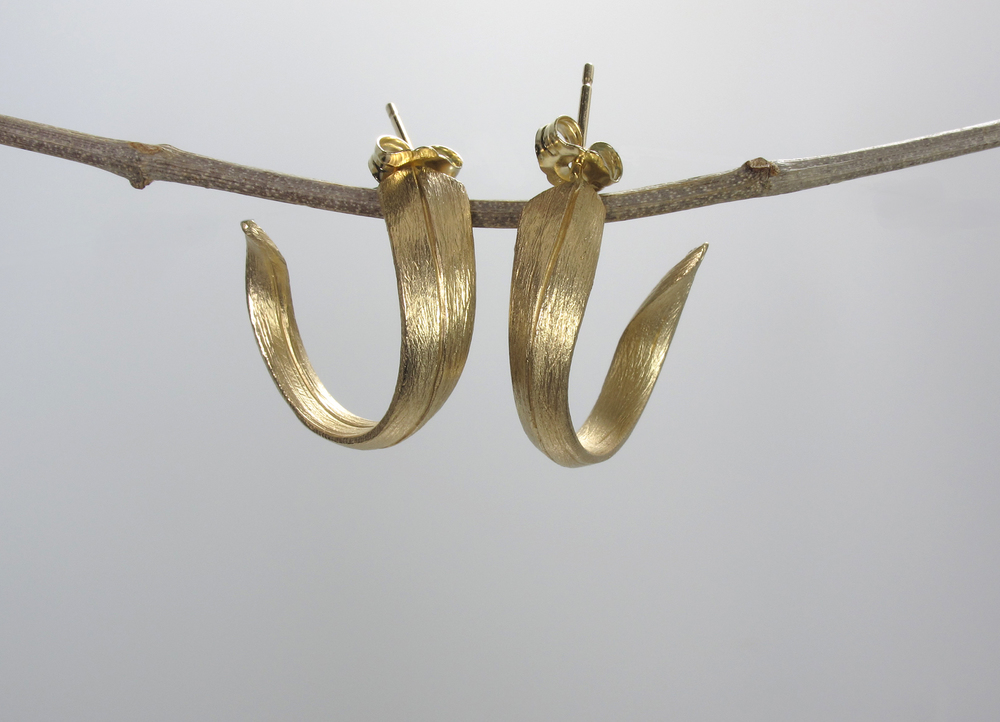 14ky gold earrings - for auction at Grinstein Jewlery & Design