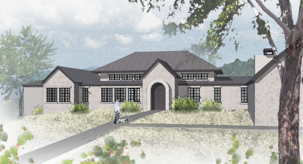 Lot 21 Trails Parkway - Renderings and plans for a custom home on lake front property by Dick Clark