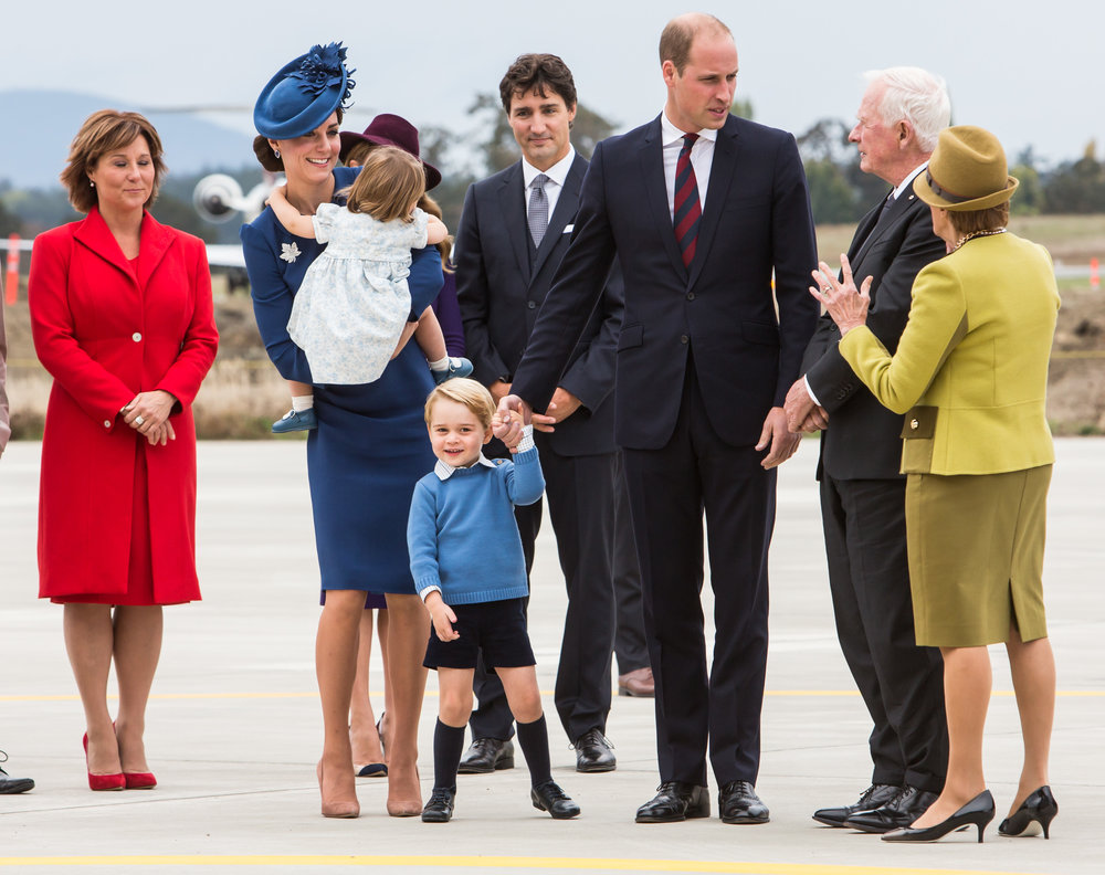 The Duke and Duchess of Cambridge arrive in Victoria, B.C.
