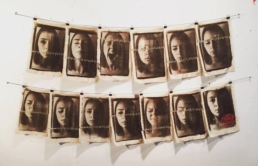 12 + 1 Emotions, Van Dyke Brown prints, 2015.