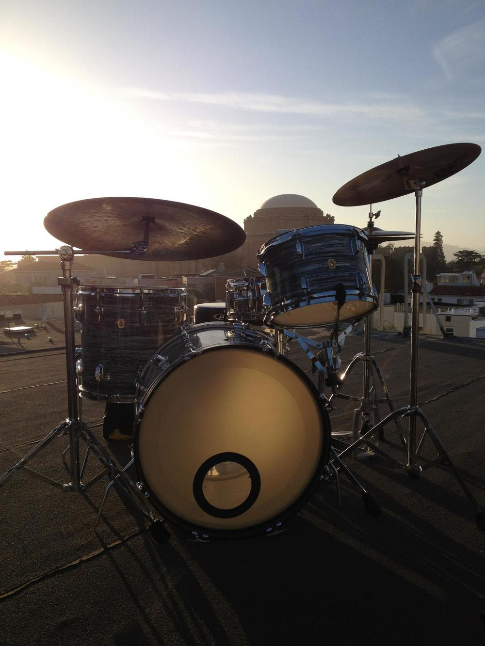 Drums on roof 1.JPG