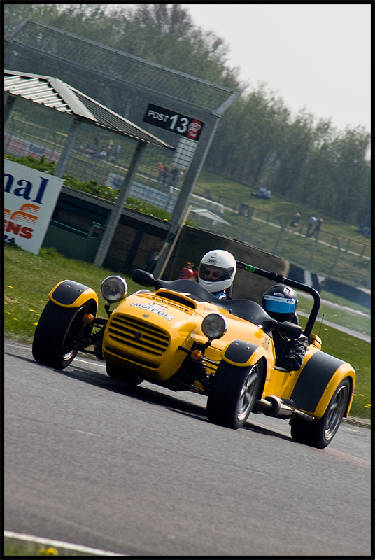 Caterham (I think) taken at a track day at Castle Combe