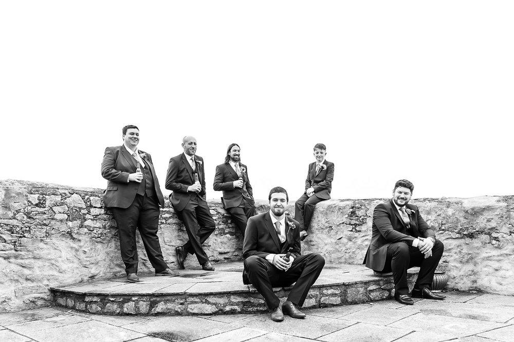 groomsmen photo at west barn