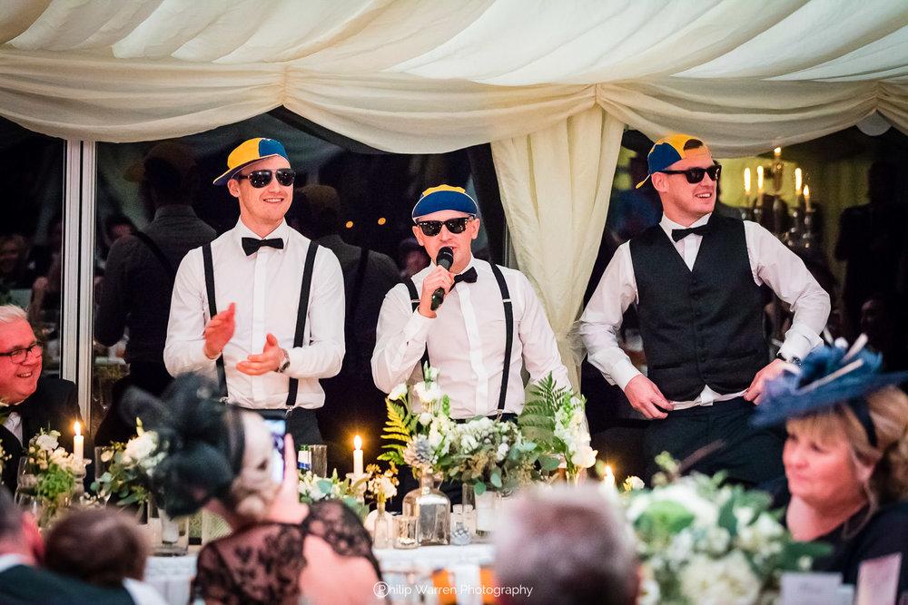 best men speech at fairyhill winter wedding