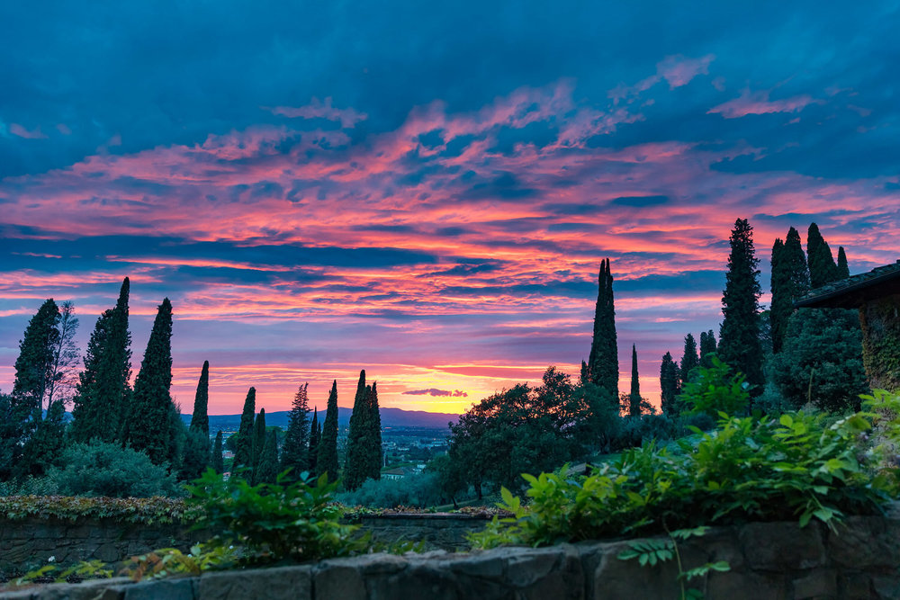 sunset at villa le fontanelle florence