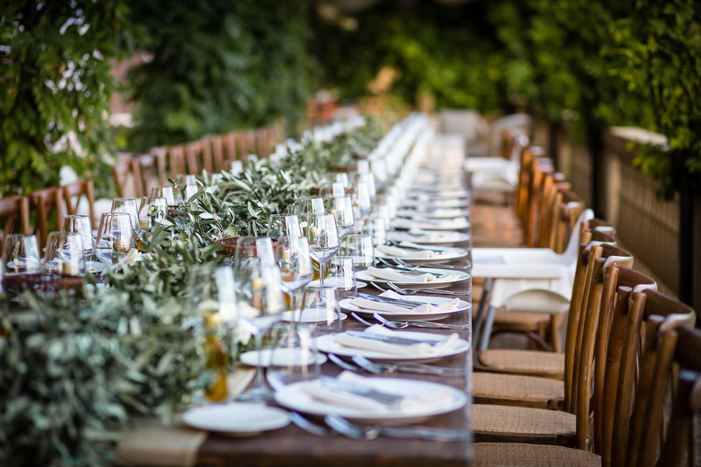 Wedding breakfast setup at this tuscany wedding