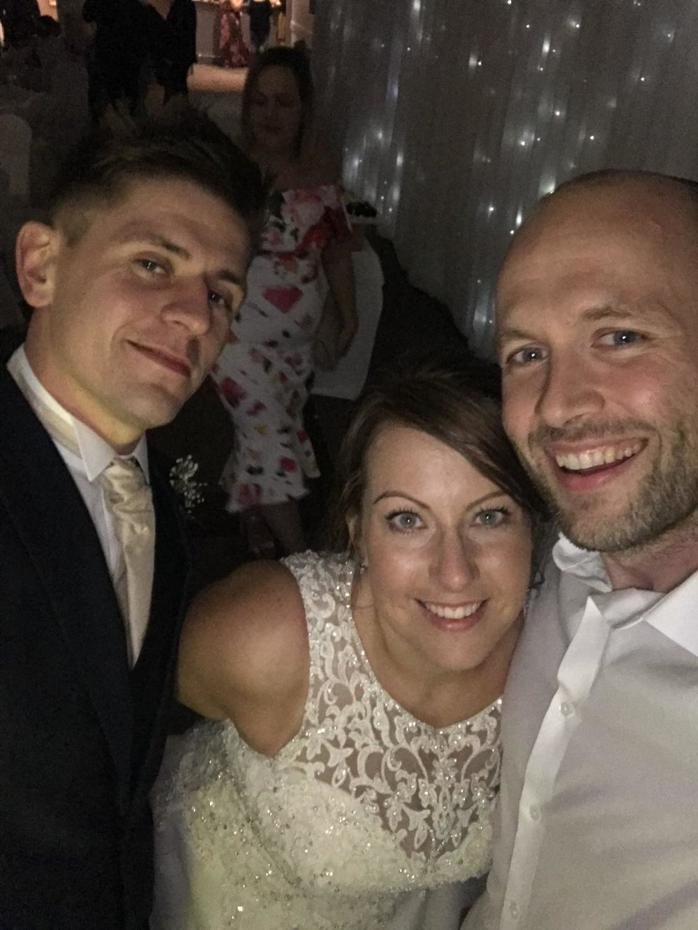philip warren selfie with bride and groom